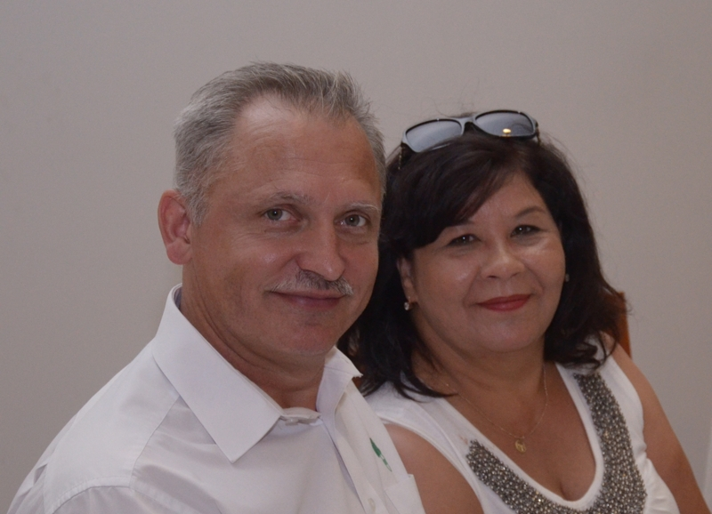 Dyrektor A. Zdanowicz wraz z małżonką
