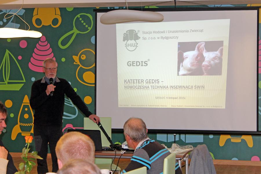 Prelekcję prowadzi Henryk Skórnicki, dyrektor Centrum Doradztwa Rolniczego w Brwinowie Oddział w Radomiu