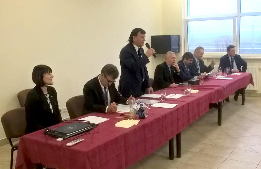 Do delegatów zwraca się Pan Krzysztof Banach, ponownie wybrany na funkcję prezesa Podlaskiego Związku Hodowców Bydła i Producentów Mleka