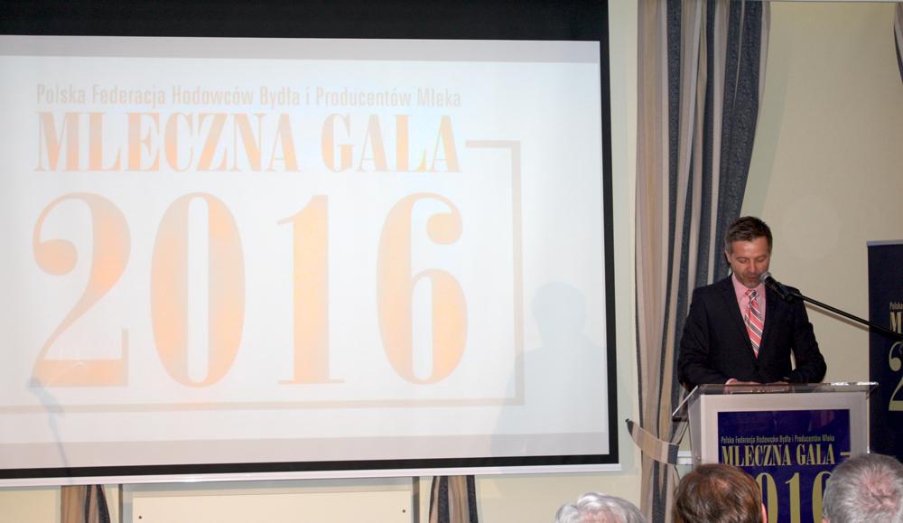 Mleczną Galę 2016 prowadził redaktor Bogdan Sawicki