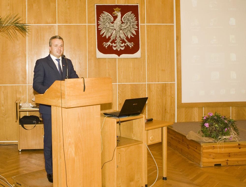 Pan Jakub Szeligowski, zwyciezca konkursu Podlaskiej Szkoły Młodych Hodowców, Szepietowo 2016