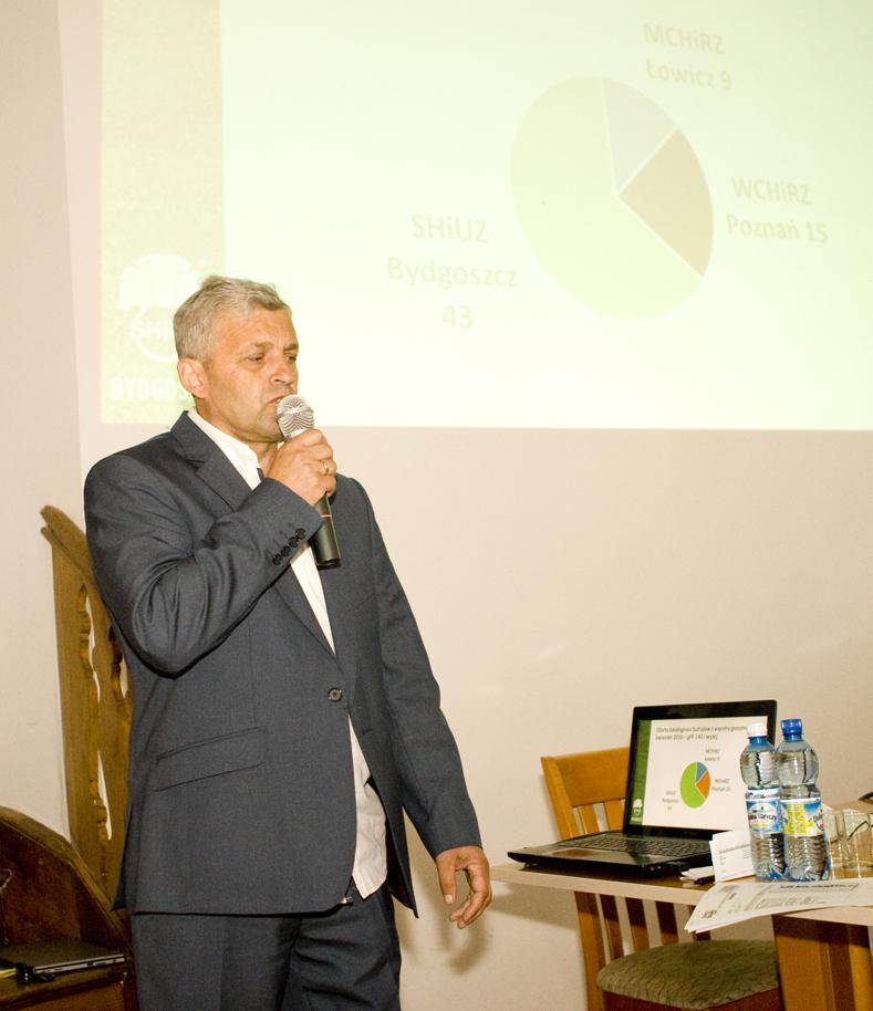 Pan Bogdan Godlewski, specjalista ds. hodowli bydła SHiUZ Bydgoszcz