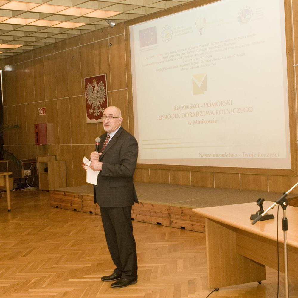 Pan Roman Sass, dyrektor Kujawsko-Pomorskiego Ośrodka Doradztwa Rolniczego w Minikowie