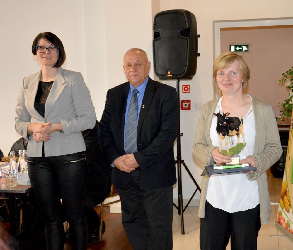 Goście z Litwy - przedstawiciele tamtejszej firmy zajmującej się oceną wartości użytkowej bydła mlecznego