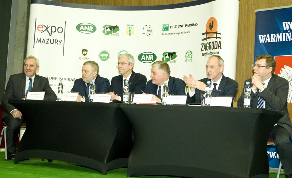 Konferencja Ministra Rolnictwa i Rozwoju Wsi w czasie Warmińsko-Mazurskiej Wystawy Zwierząt Hodowlanych w Ostródzie