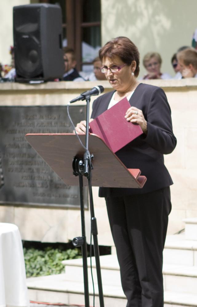 Pani Halina Szymańska, szef Kancelarii Prezydenta RP, odczytała list Pana Andrzeja Dudy do uczestników Dożynek w Ciechocinku