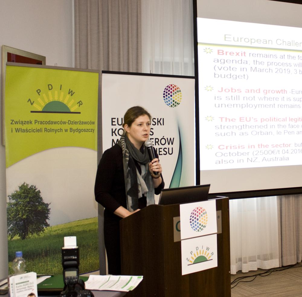 Emmanuelle Mikosz, reprezentująca European Landowners' Organisation,