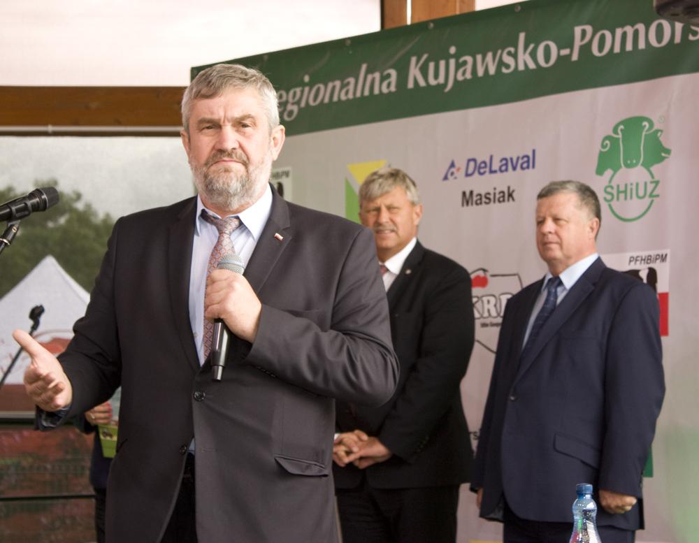 Gość Specjalny Regionalnej Wystawy Zwierząt Hodowlanych w Minikowie - Jan Krzysztof Ardanowski, minister rolnictwa i rozwoju wsi