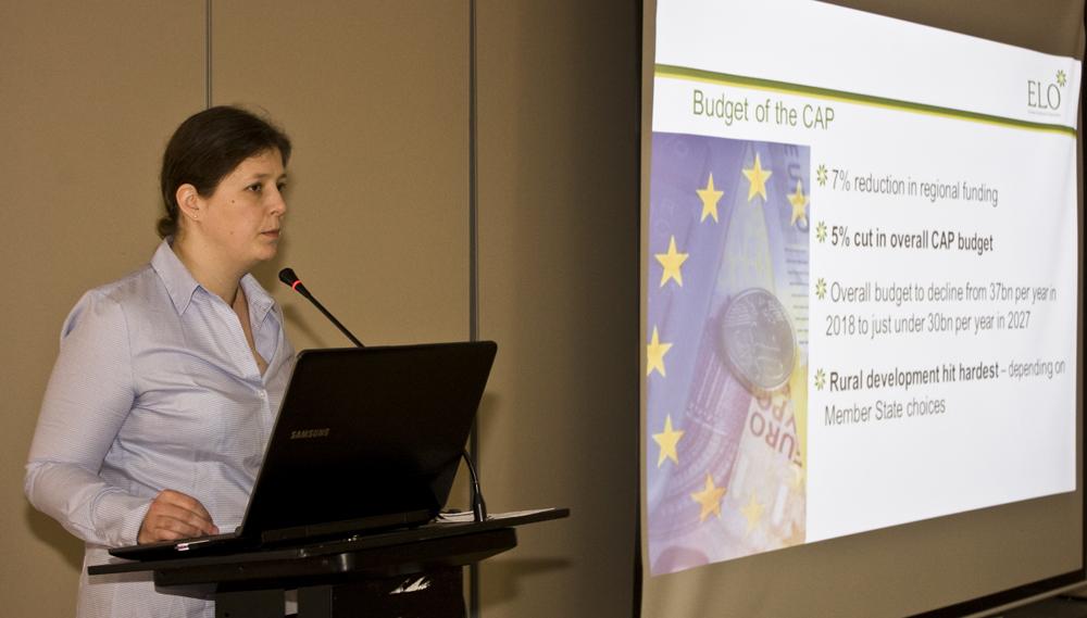 Emanuelle Mikosz referuje aktualne tematy związane z polityką rolną UE