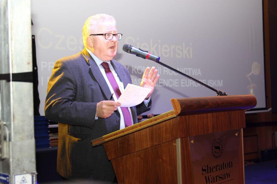 Czesław Siekierski, przewodniczący Komisji Rolnictwa i Rozwoju Wsi w Parlamencie Europejskim. Fot.  Krzysztof Zacharuk/APRA