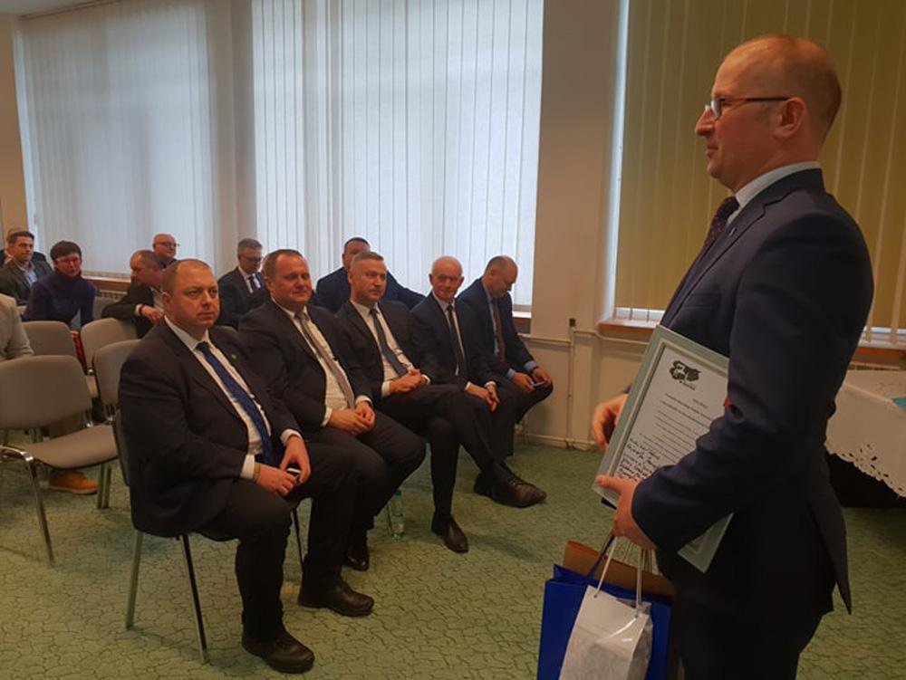 Głos zabiera Robert Nowacki, dyrektor WMODR Oddział w Olecku. Otwarcie nowej siedziby ODR w Olecku