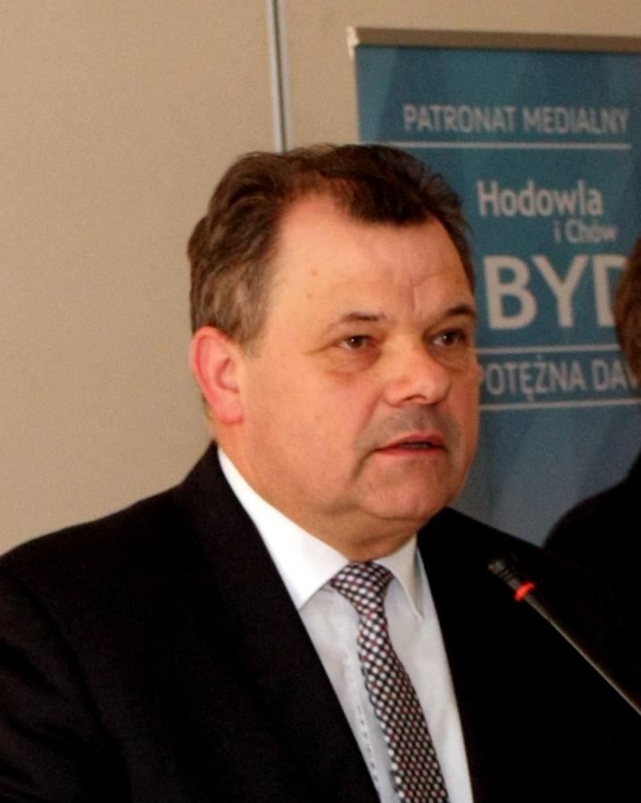 Piotr Doligalski, prezydent Kujawsko-Pomorskiego Związku Hodowców Bydła. Spotkanie hodowców bydła mlecznego w Łysomicach, 7.03.2019