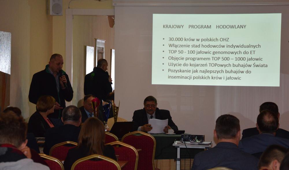 Grzegorz Wojtkielewicz, dyrektor ds. doradztwa i szkoleń SHiUZ Bydgoszcz O. w Olecku, przedstawia najnowsze trendy w krajowym programie hodowlanym