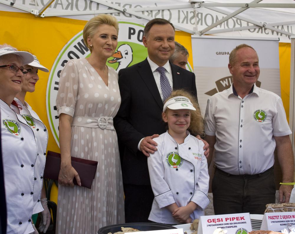 Państwo Agata i Andrzej Duda w czasie zwiedzania Targów Agro-Tech w Minikowie, 2019