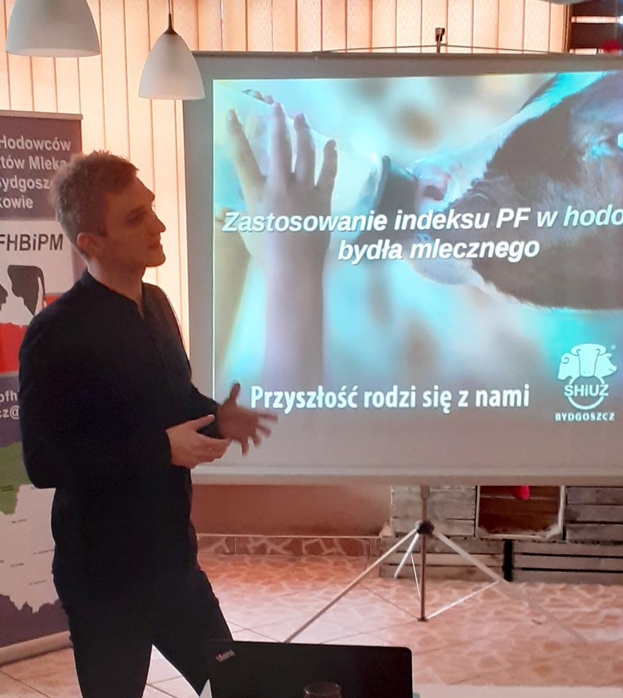 Marcin Wrotecki, kierownik rejonu SHiUZ Bydgoszcz, omawia zastosowanie indeksu PF